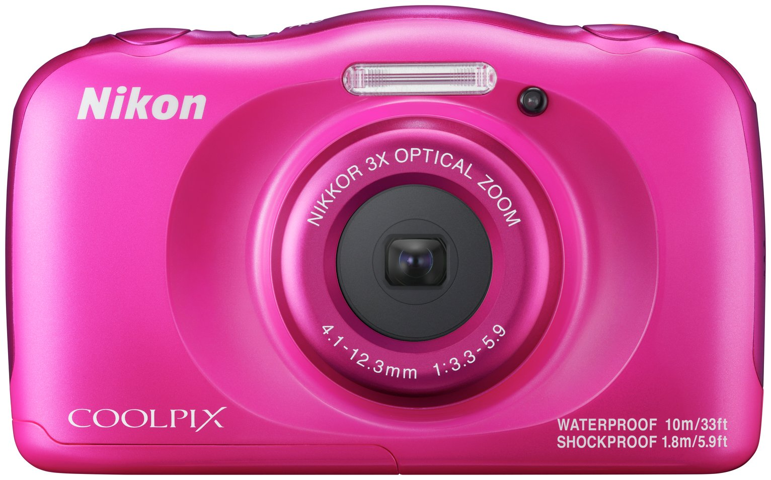 Nikon Coolpix W100 13.2MP 3x Zoom Compact Camera - Pink