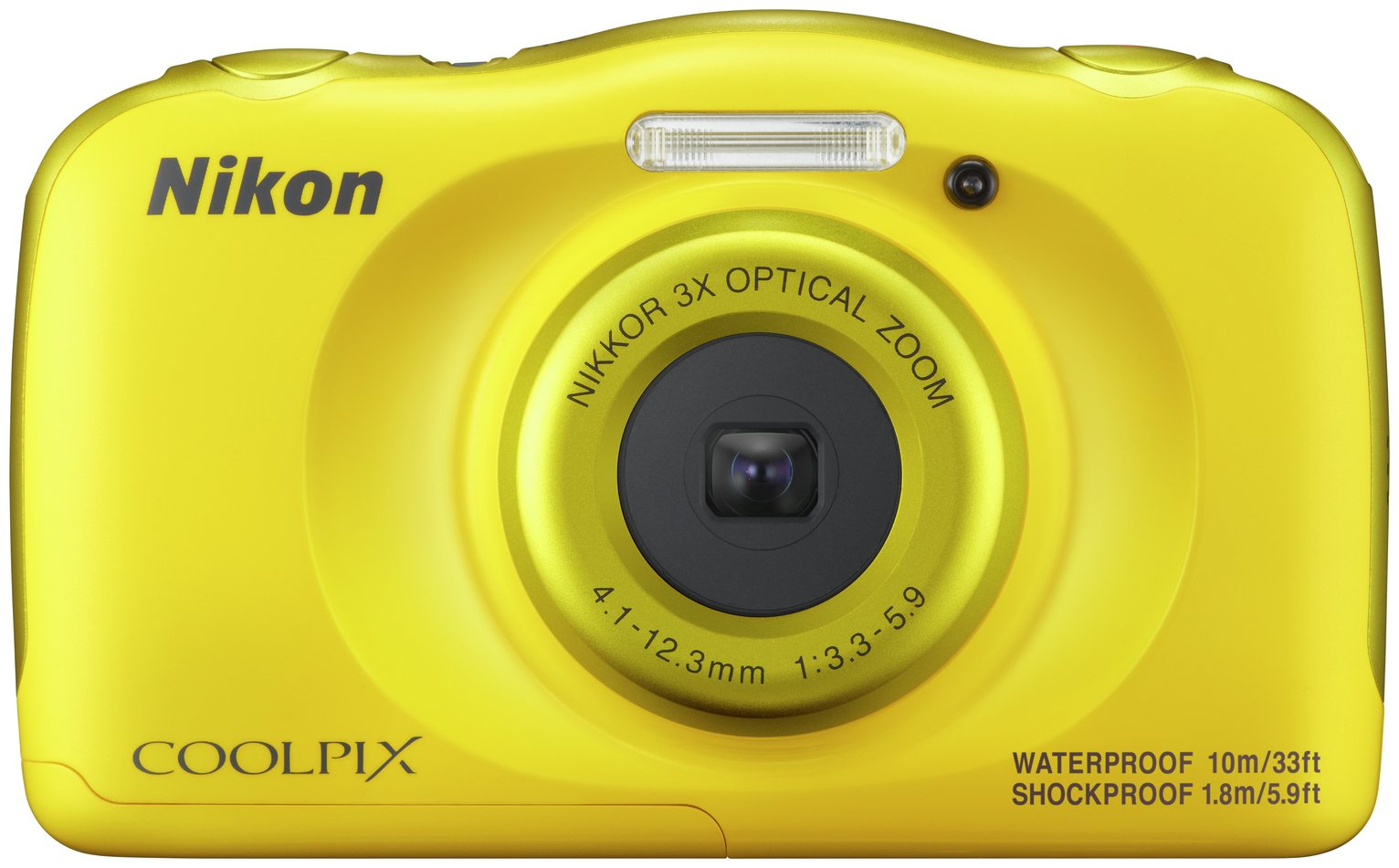 Nikon Coolpix W100 13.2MP 3x Zoom Compact Camera - Yellow