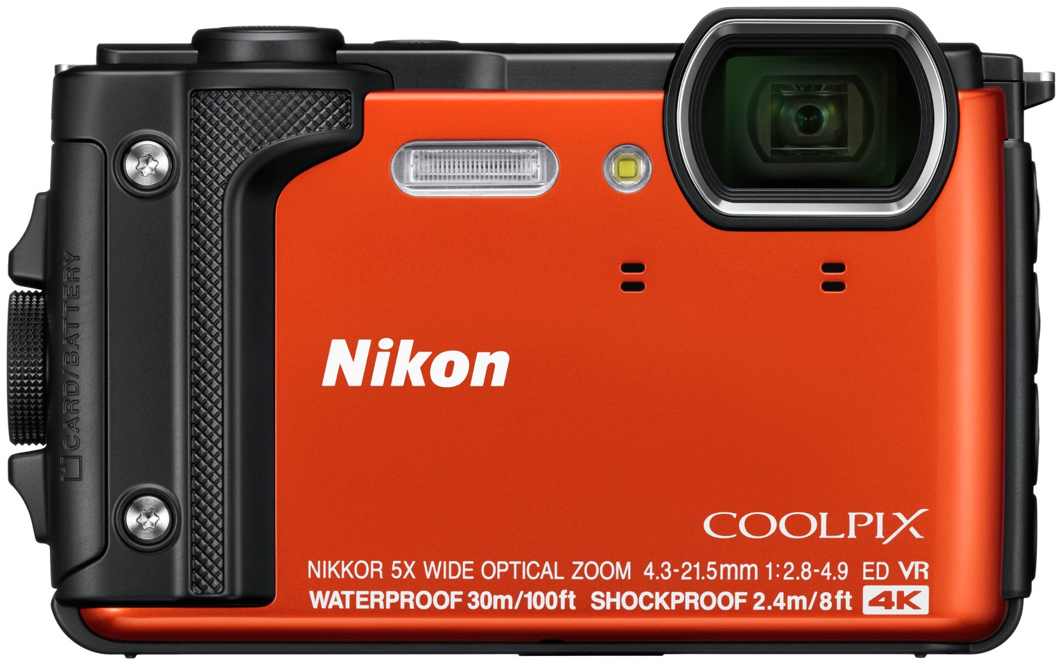 Nikon Coolpix W300 16MP 5x Zoom Compact Camera - Orange