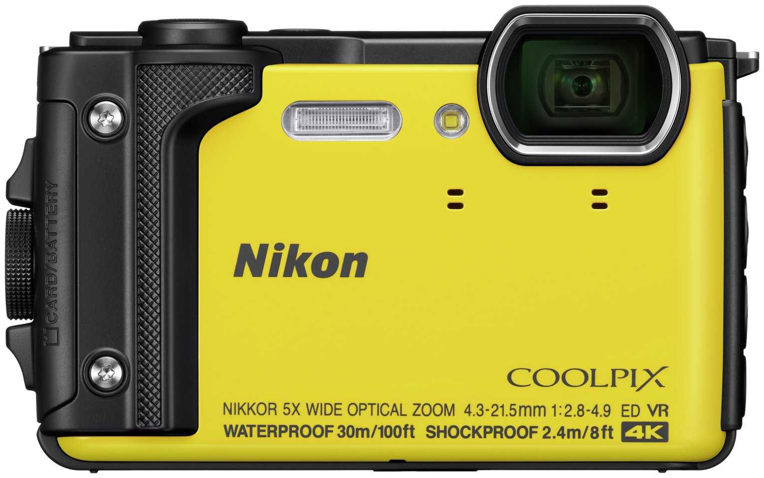 Nikon Coolpix W300 16MP 5x Zoom Compact Camera - Yellow