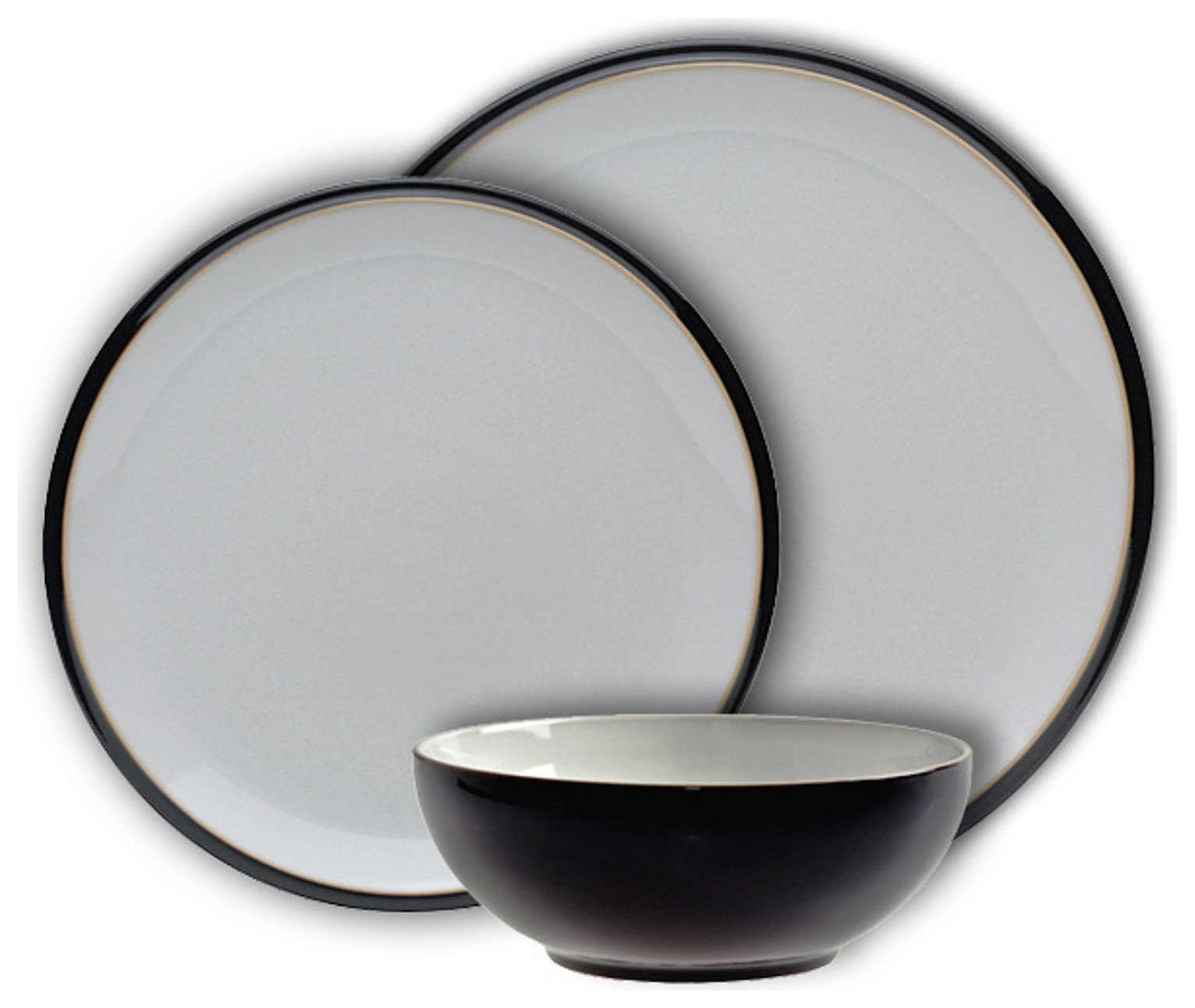 Image of Denby Everyday 12 Piece Dinner Set - Black Pepper