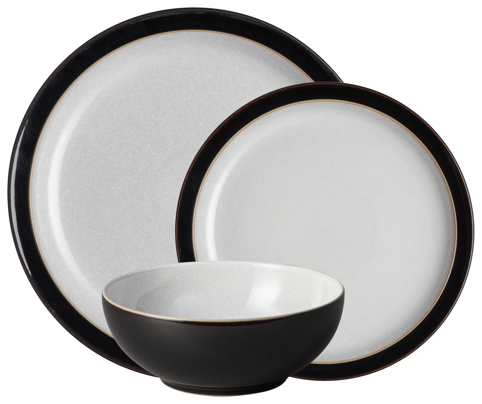 Image of Denby Elements 12 Piece Dinner Set - Black