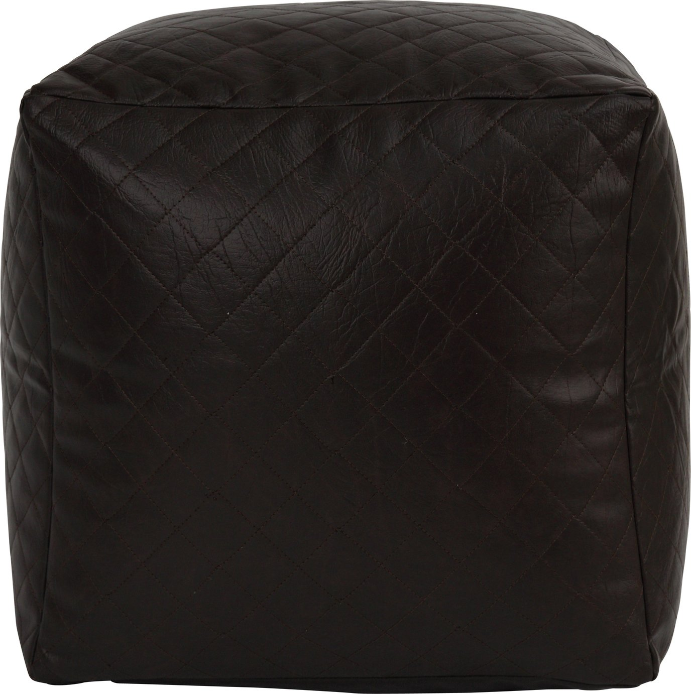 Argos Home Quilted Cube Beanbag - Chocolate