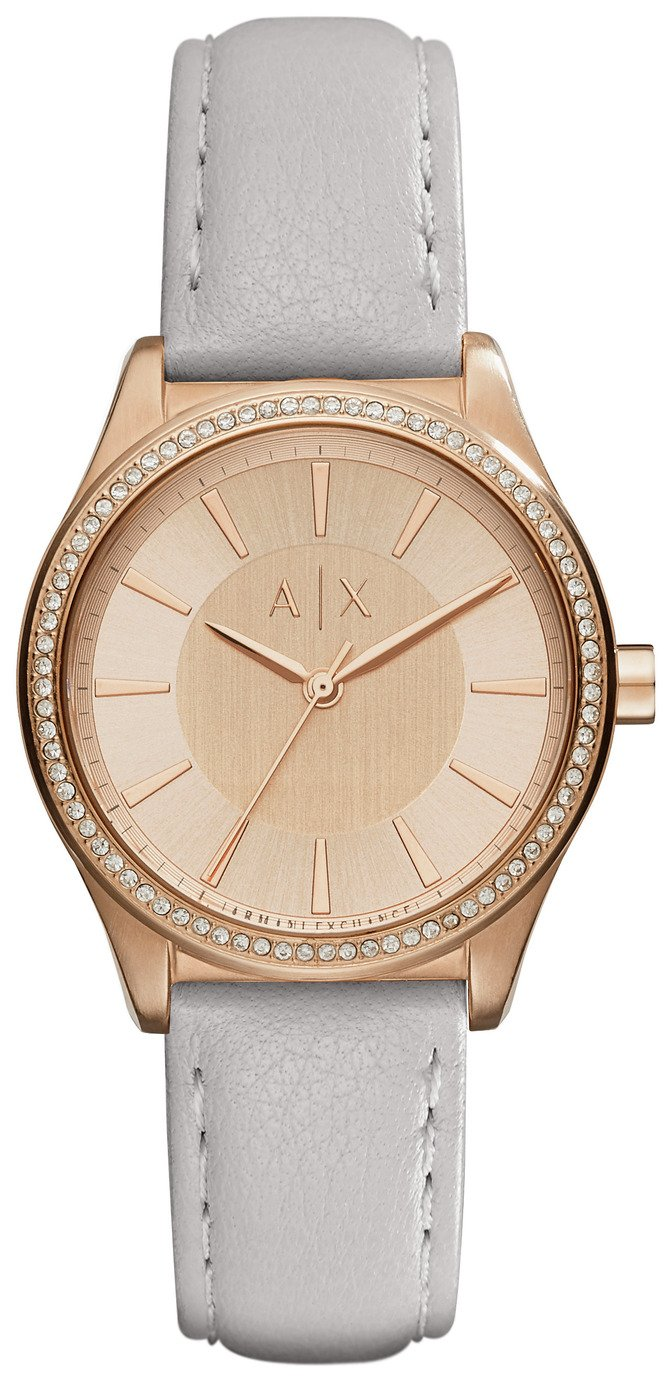 Image of Armani Exchange AX5444 Ladies' Nicolette Grey Strap Watch