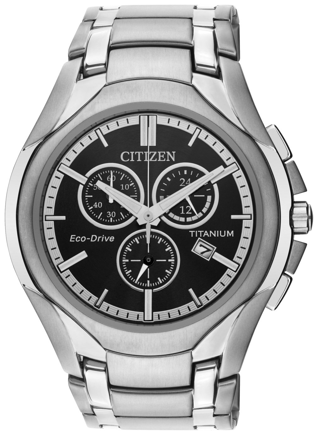 Citizen Eco-Drive Men's Silver Titanium Chronograph Watch