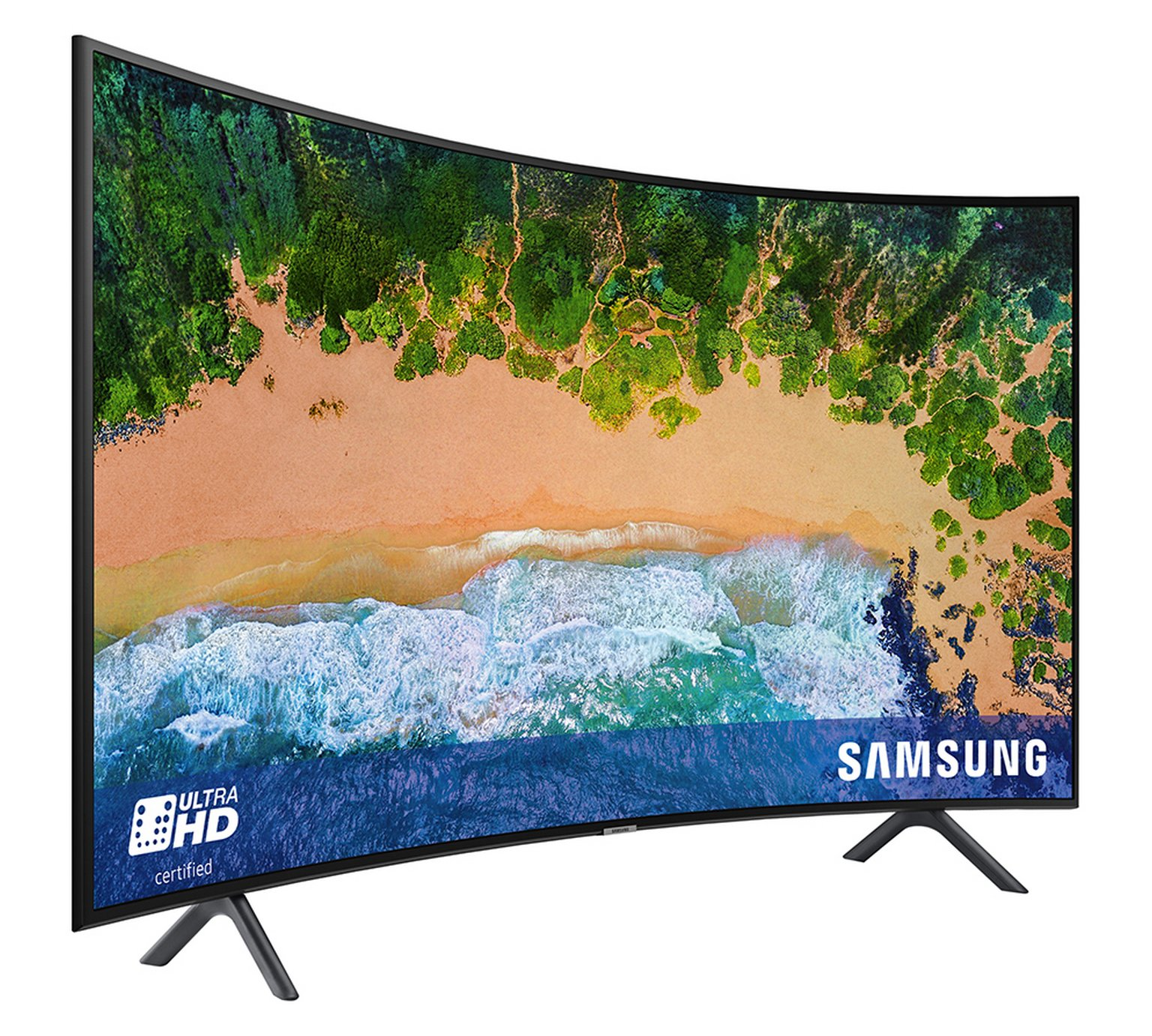 Samsung 49 Inch 49NU7300 Smart 4K UHD Curved TV With HDR by Samsung 810/2096