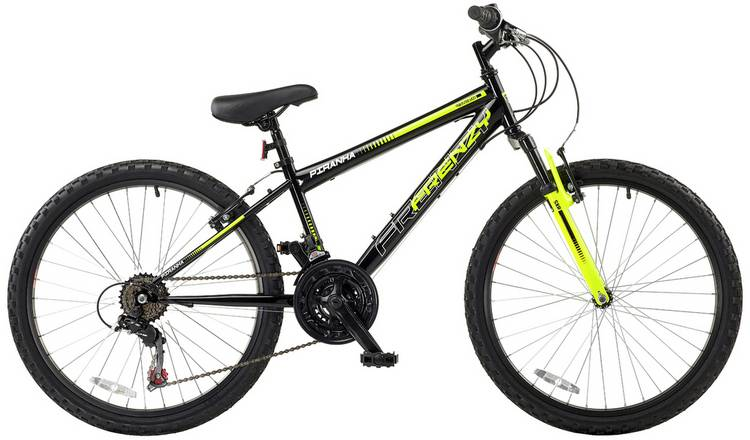 Piranha Frenzy Green 24 inch Wheel Size Kids Bike