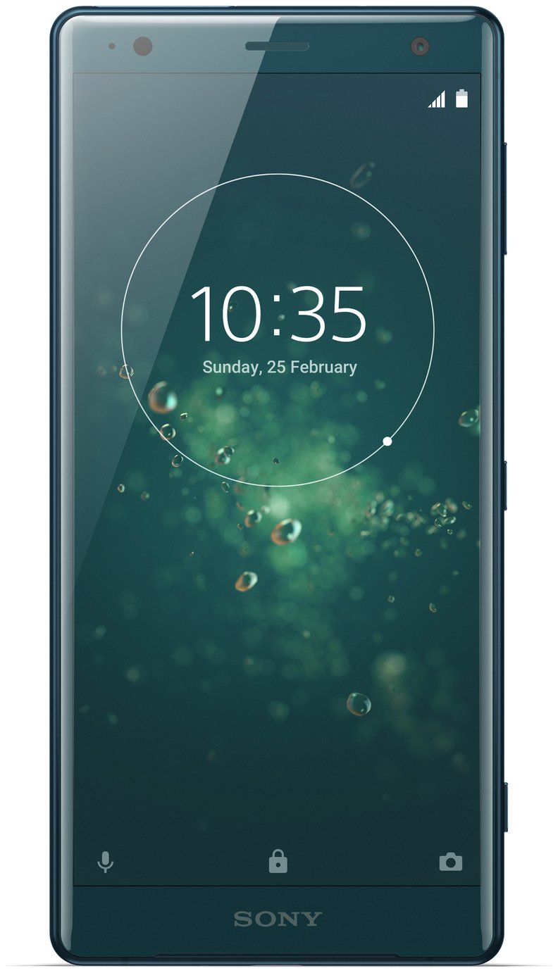 Search and compare best prices of Sim Free Sony Xperia XZ2 Liquid Mobile Phone - Green/ Blue in UK