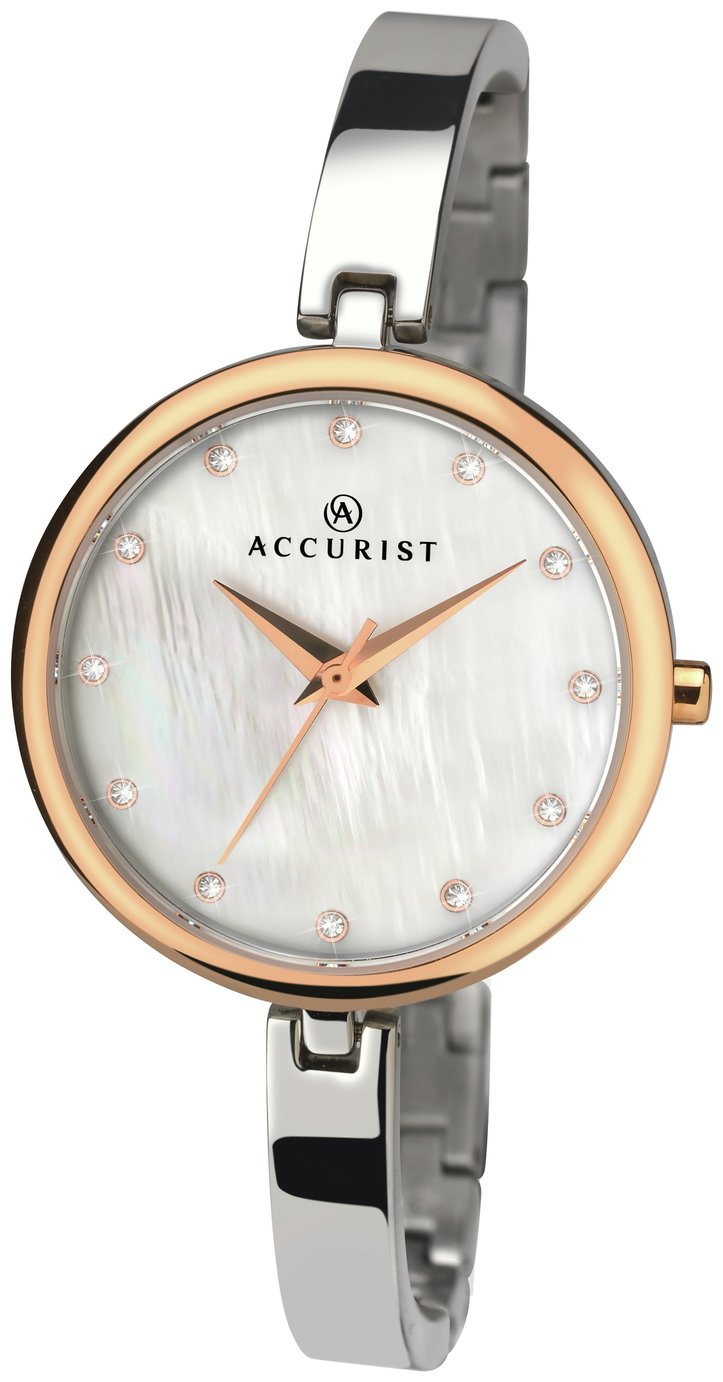 Image of Accurist Ladies' Mother of Pearl Dial Two Tone Watch