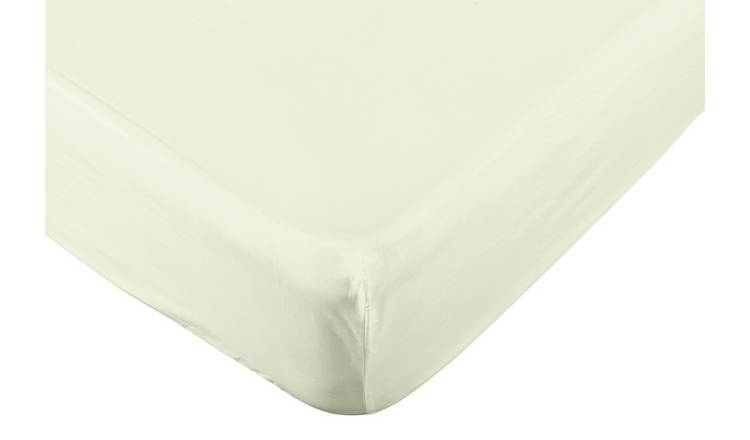 Argos Home Easycare 100% Cotton 28cm Fitted Sheet - Double