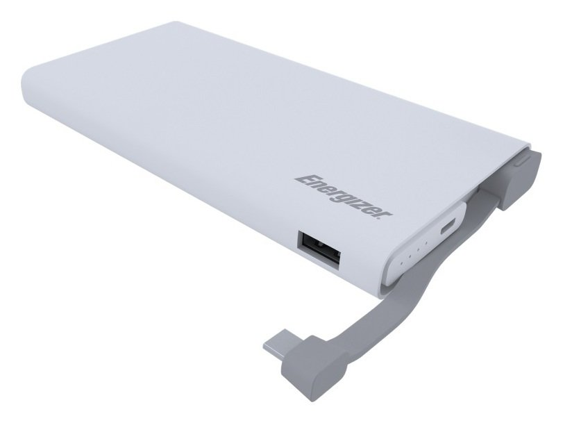 Image of Energizer 10000mAh Quick Charge Portable Power Bank - White