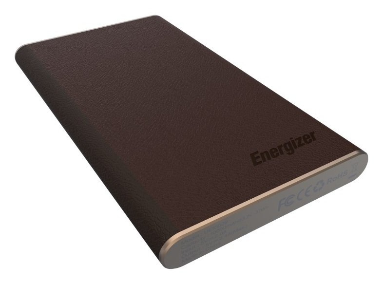 Image of Energizer 10000mAh Leather Style Power Bank - Gold and Brown