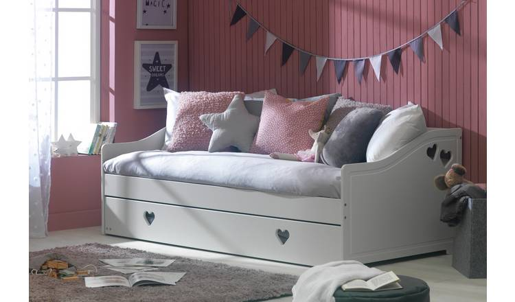 Buy Argos Home Mia Day Bed, Trundle and 2 Kids Mattresses ...