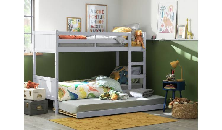 best loved 17594 13ef0 Buy Argos Home Detachable Grey Bunk Bed Frame with Trundle | Kids beds |  Argos