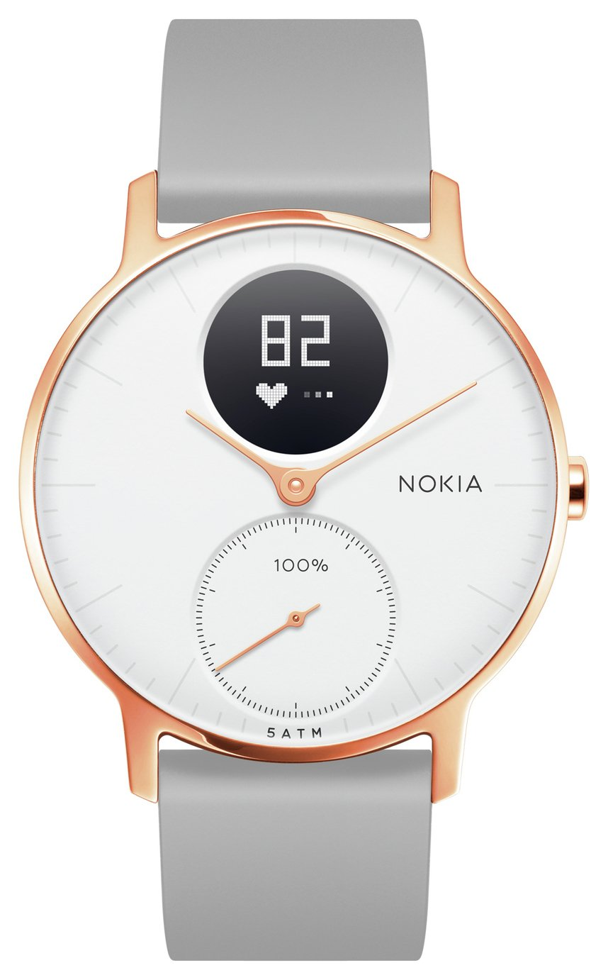 Nokia Steel HR Rose Gold Activity Tracker - Grey Silicone