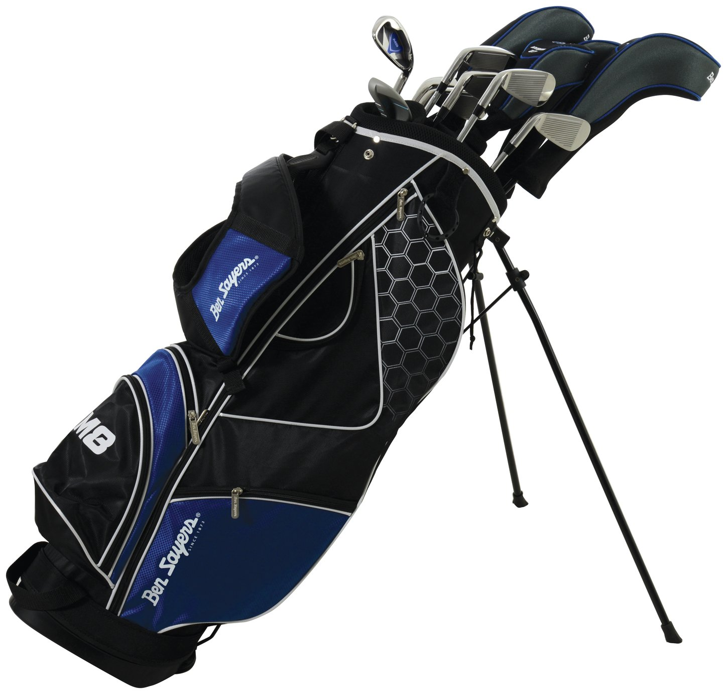 Image of Ben Sayers Mens' M8 Golf Set With Stand Bag - Blue