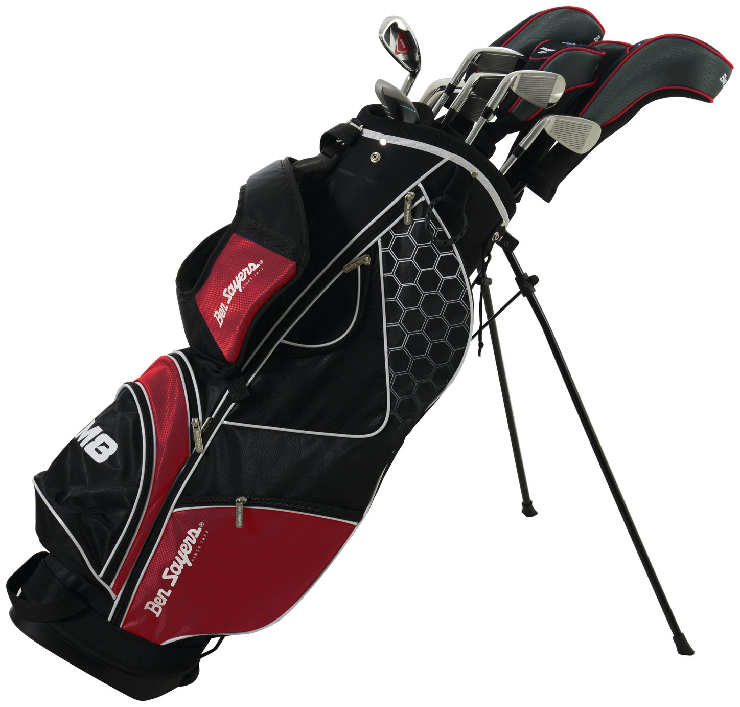 Ben Sayers Mens' M8 Golf Set with Stand Bag -  Red
