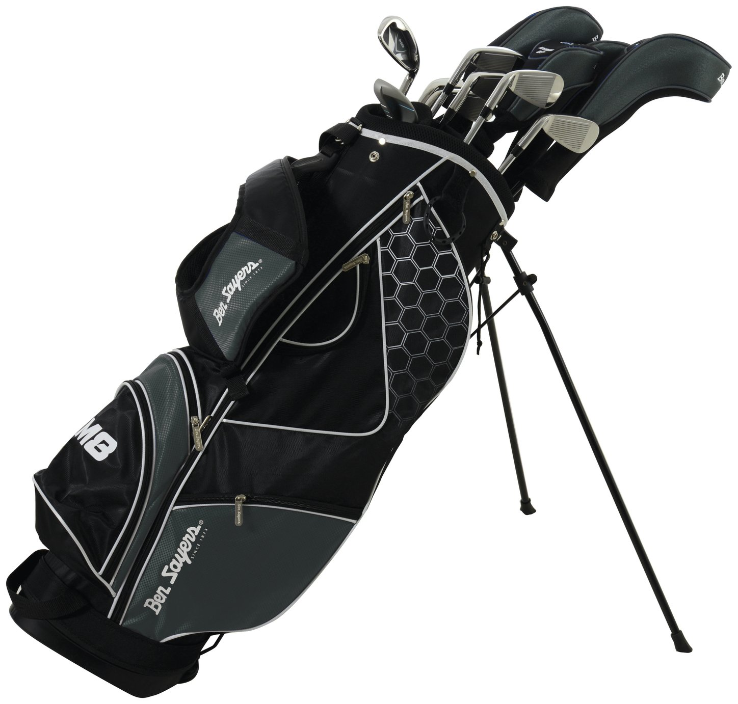 Ben Sayers Mens' M8 Golf Get With Stand Bag - Black