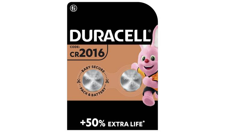 Duracell 2016 Lithium Coin Battery (CR2016) - Pack of 2