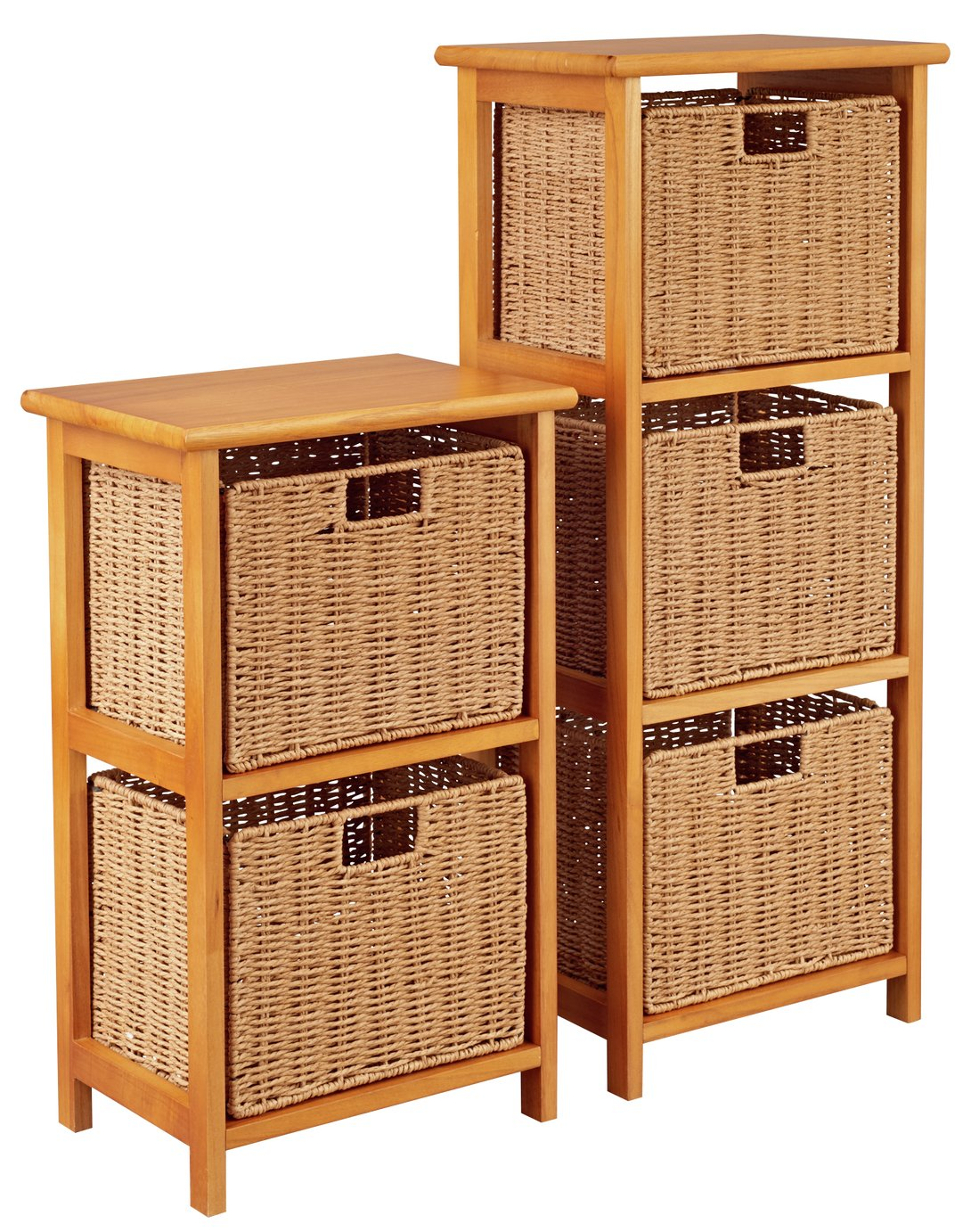 Image of Collection 2 & 3 Drawer Storage Units - Natural