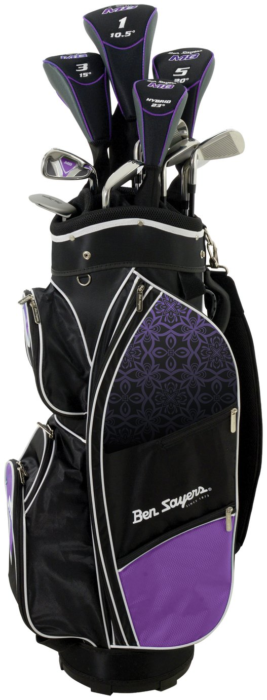 Image of Ben Sayers Ladies' M8 Golf Set with Cart Bag - Purple