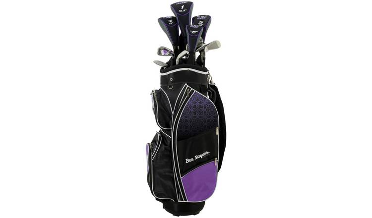 Ben Sayers M8 Women's Golf Club Set and Cart Bag - Purple