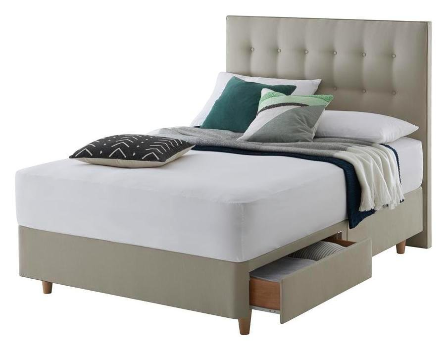 Silentnight Toulouse 4 Drawer Superking Divan Bed Sandstone