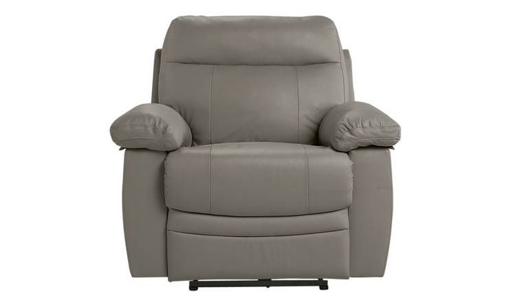 Buy Argos Home Paolo Leather Mix Power Recliner Chair Grey | Armchairs and chairs | Argos