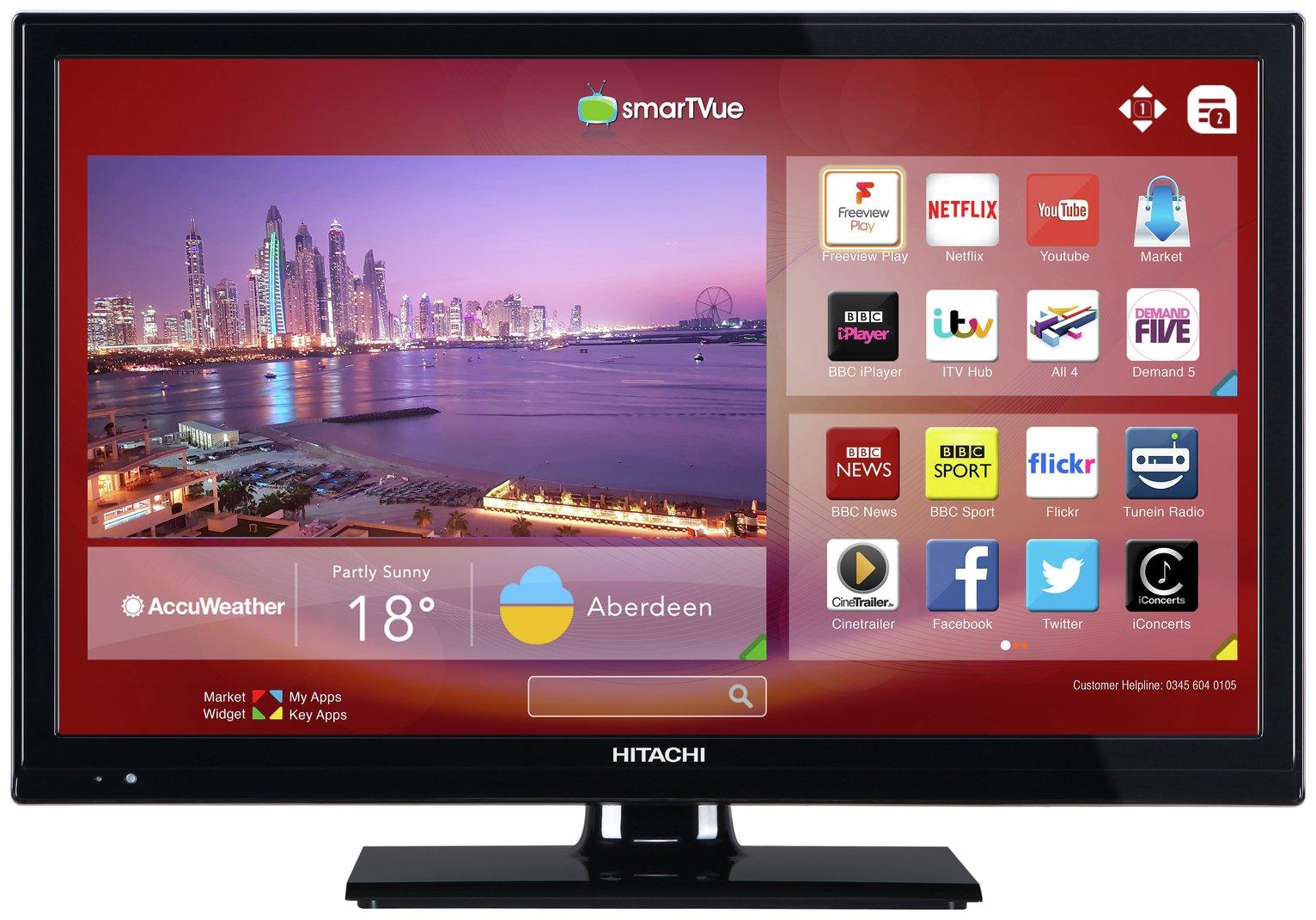 Hitachi 24 Inch Smart HD Ready TV/ DVD Combi
