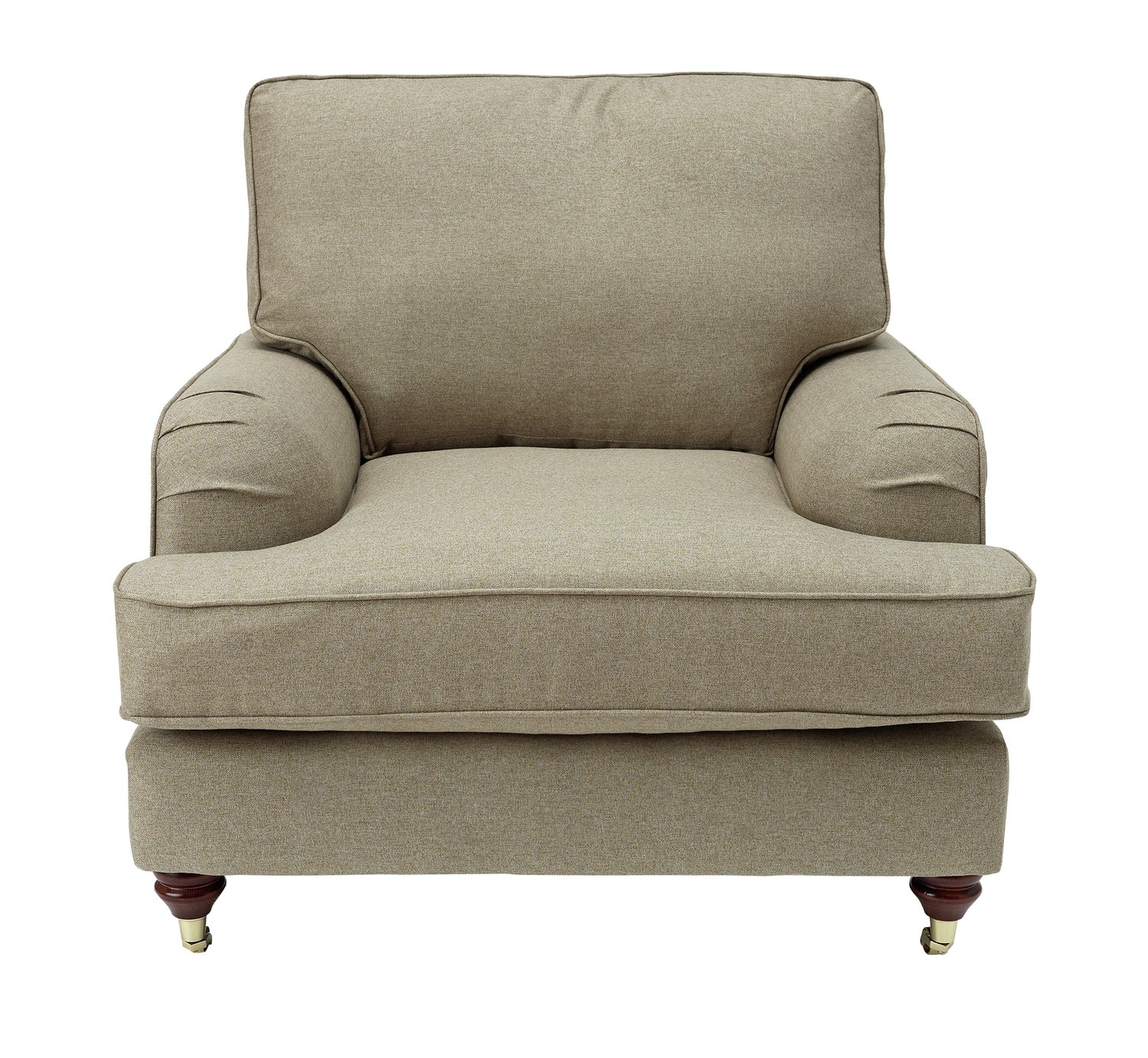 Argos Home Abberton Tweed Fabric Armchair - Natural