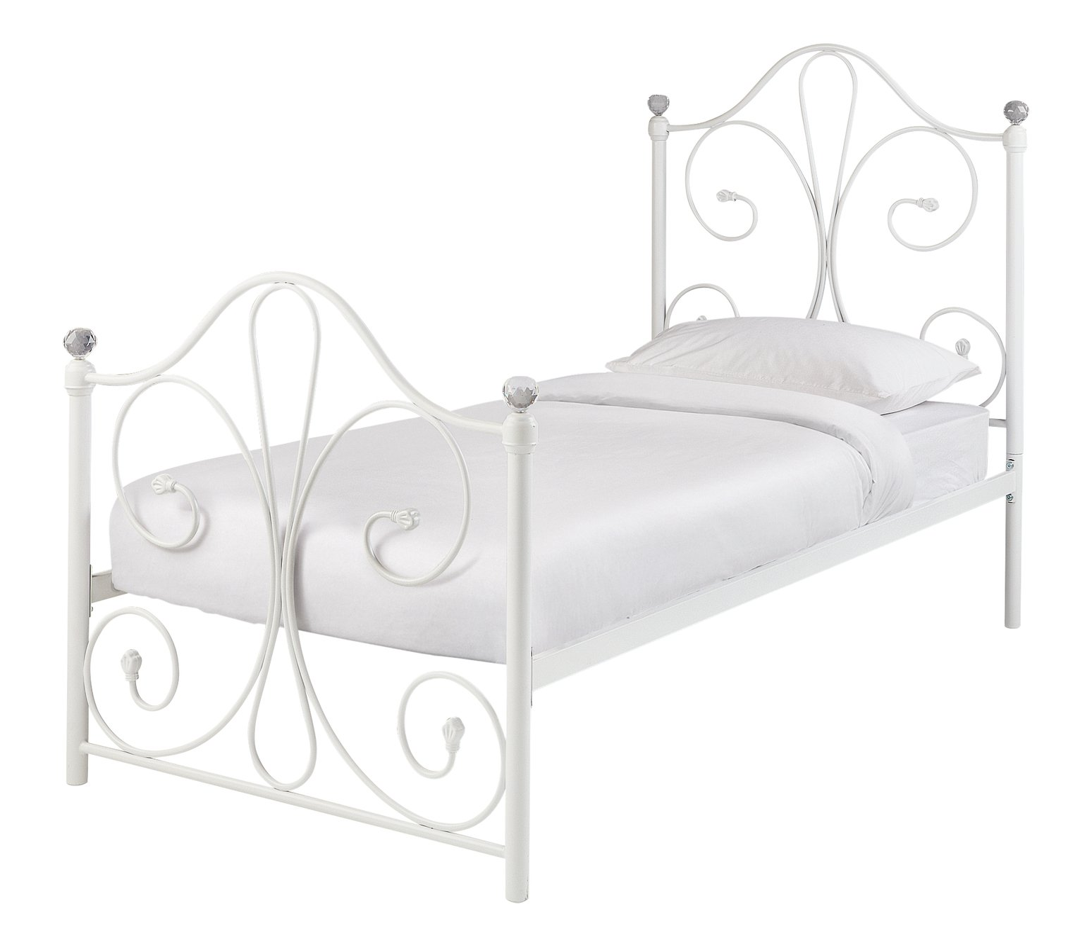 Argos Home Marietta Single Bed Frame - White