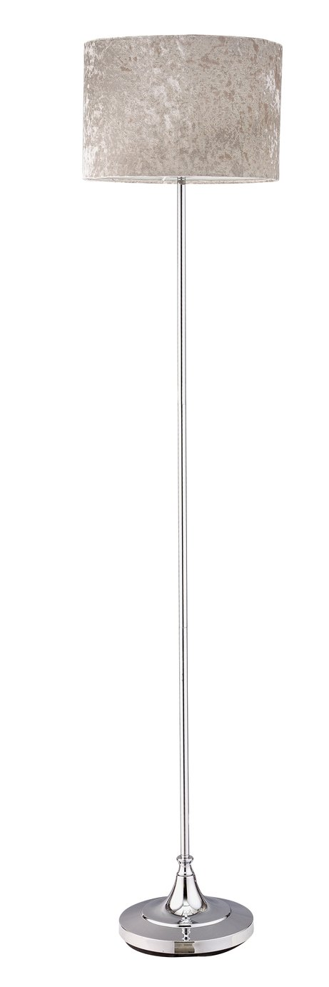 Argos Home Venice Velvet Floor Lamp - Silver Grey