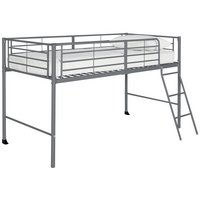 HOME Lucas Mid Sleeper Bed Frame - Grey