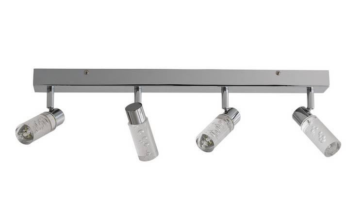 new concept f0862 10e65 Buy Argos Home Bubble 4 LED Bathroom Spotlight Bar - Chrome   Bathroom  lights   Argos