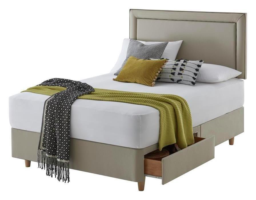 Silentnight Toulouse Sand Divan Bed - Superking