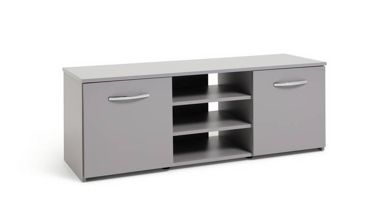 Habitat Hayward 2 Door Small TV Unit - Grey Gloss
