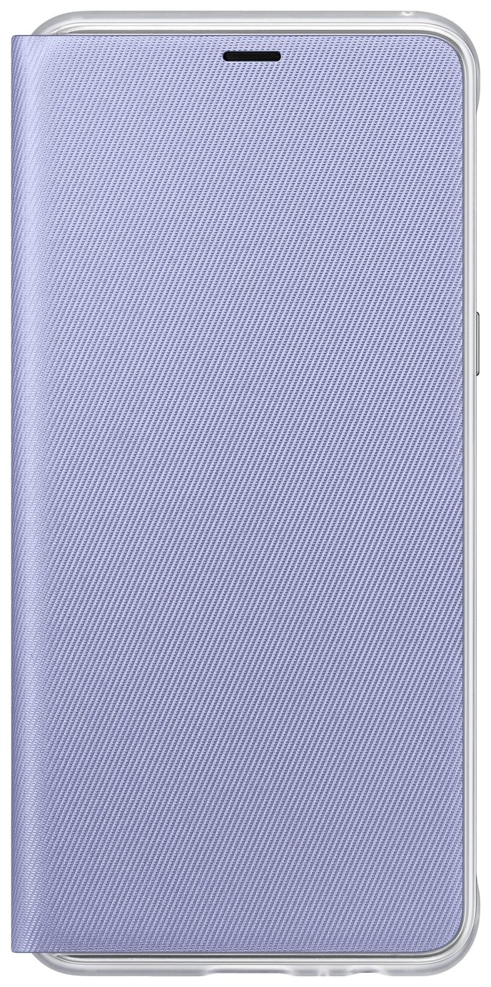 Samsung A8 Neon Mobile Phone Flip Wallet Case - Orchid Grey
