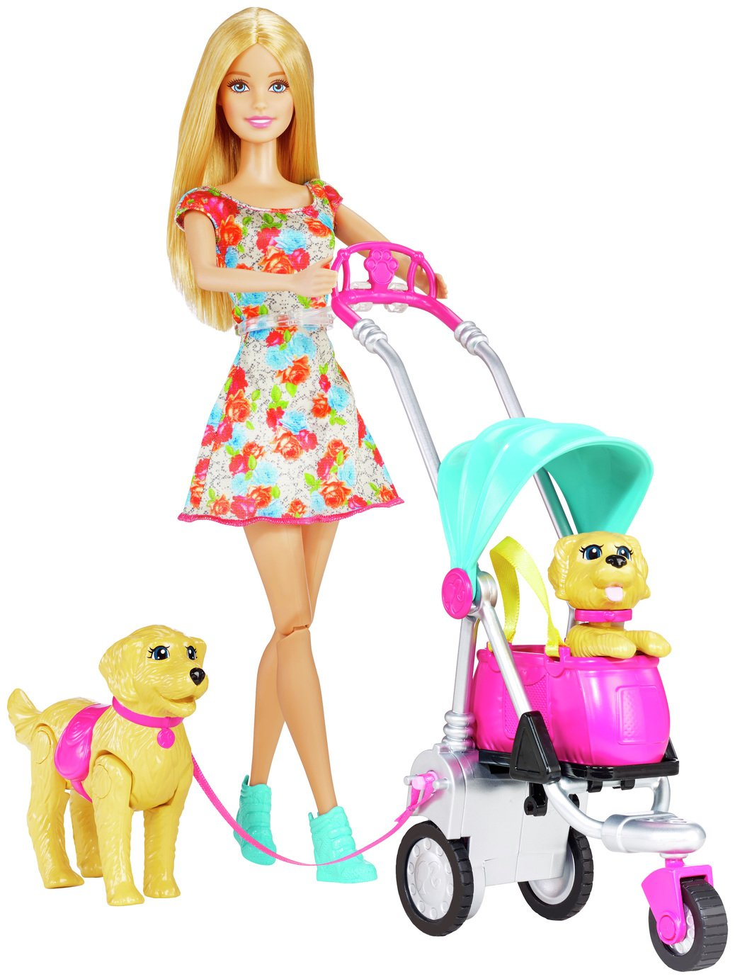 Barbie Strollin Pups
