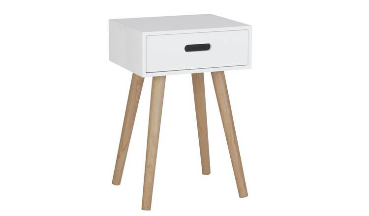 Habitat Cato 1 Drawer Side Table - White