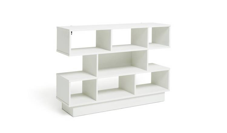 Buy Argos Home Cubes 3 Tier Wide Bookcase White Bookcases