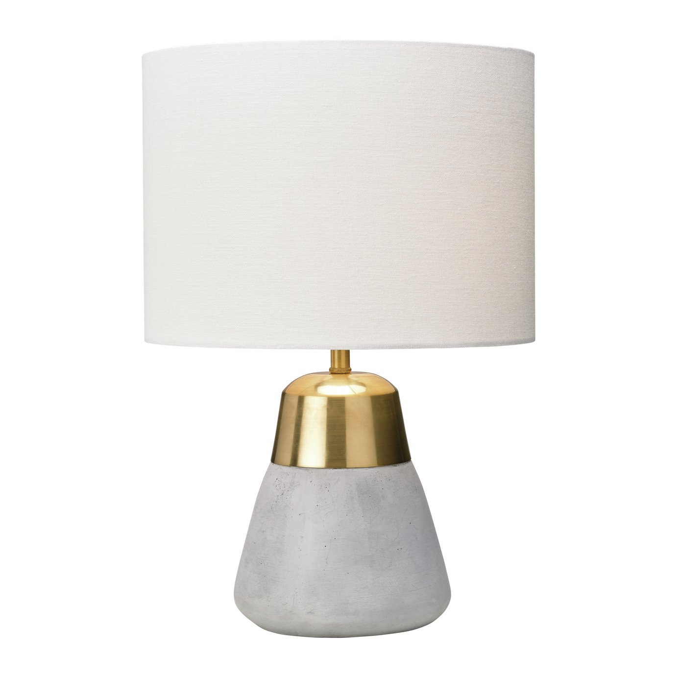 Village at Home Jasper Table Lamp - Ivory and Gold