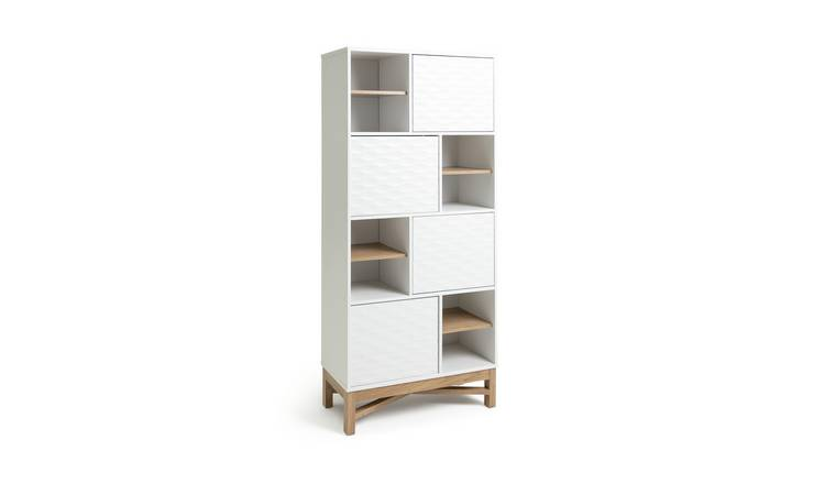 Habitat Zander Textured 4 Tier Shelving Unit - Two Tone