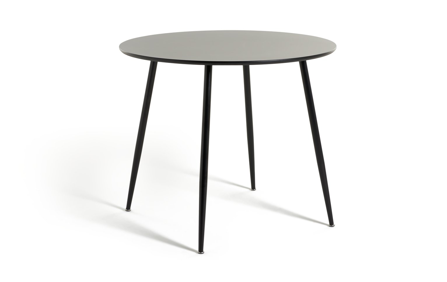 Habitat Beni Round 4 Seater Dining Table - Black