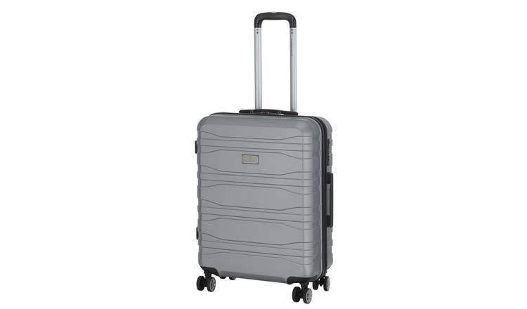 Featherstone 8 Wheel Hard Medium Suitcase - Silver