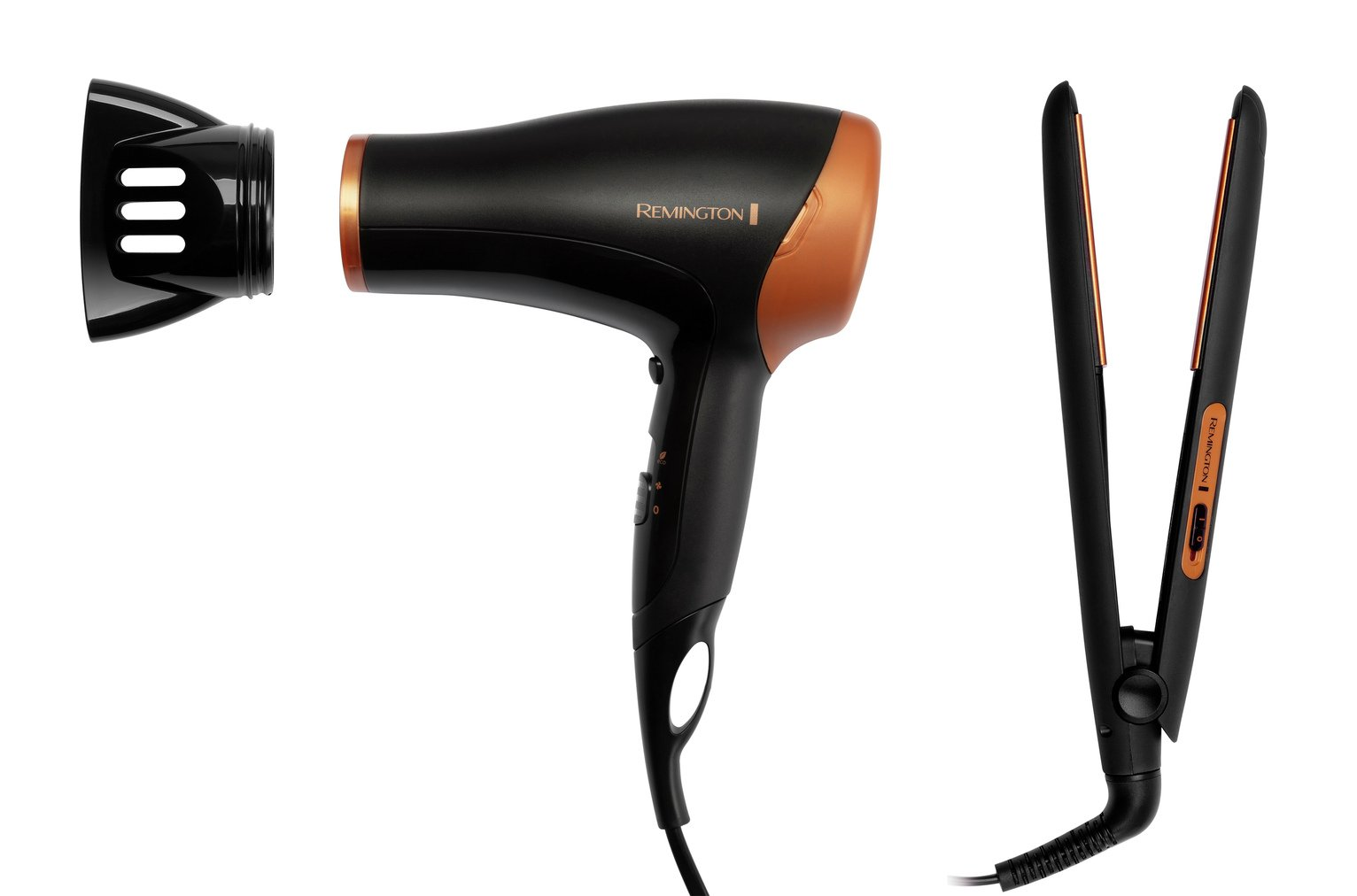 Remington Copper Hair Straightener and Dryer Gift Set