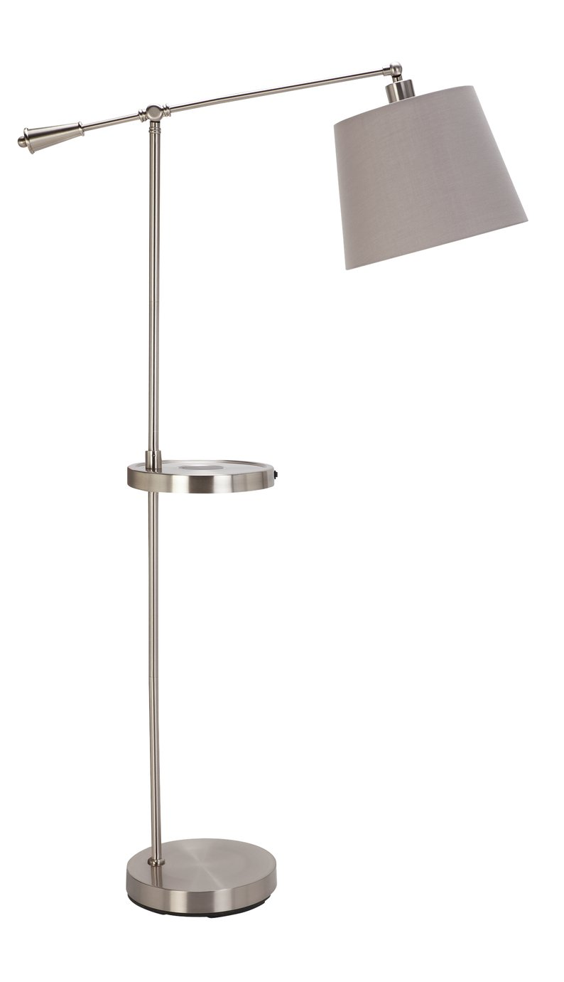 Argos Home Chargable Floor Lamp - Brushed Chrome