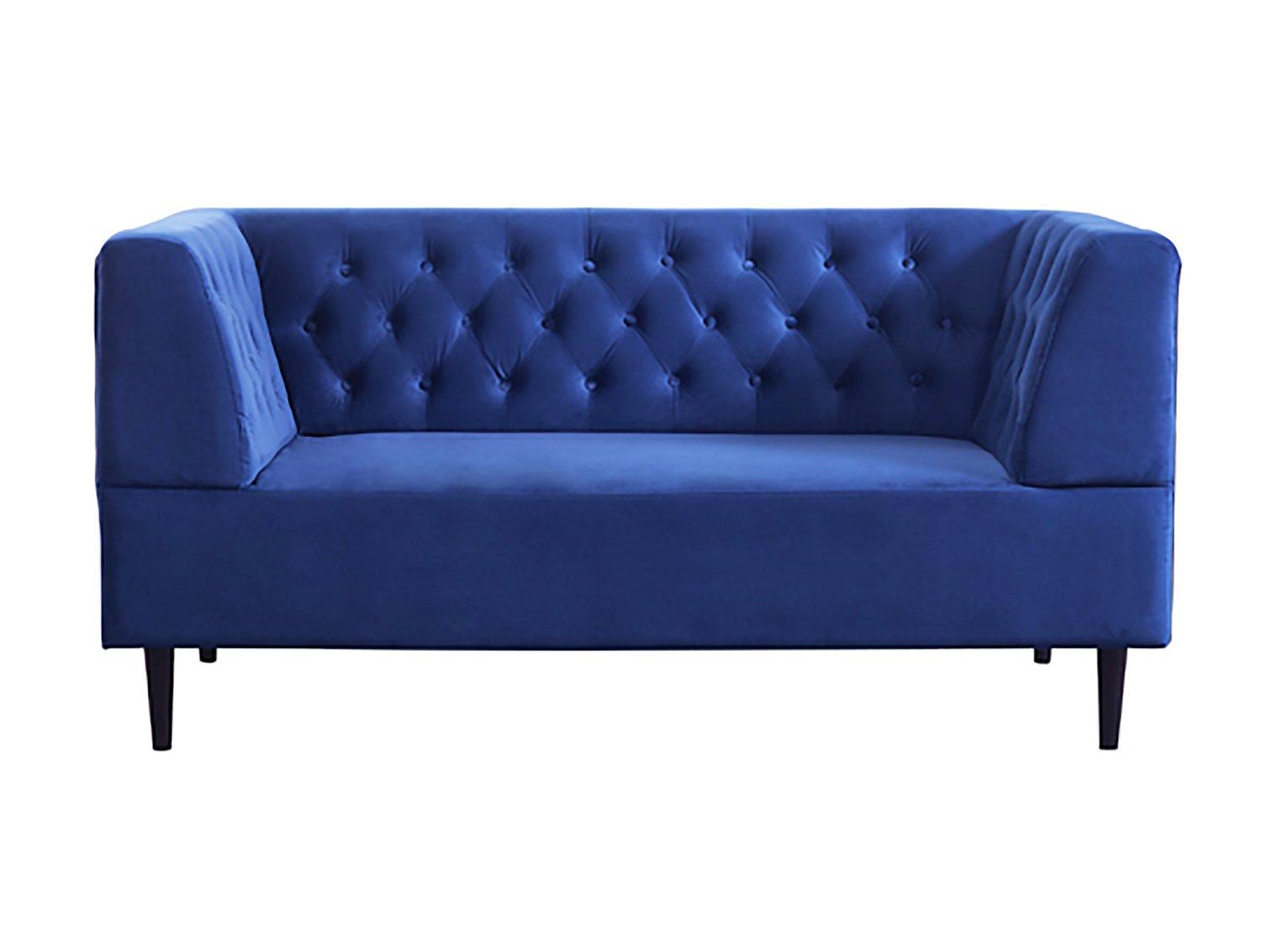 Habitat Blake 2 Seater Velvet Sofa - Navy