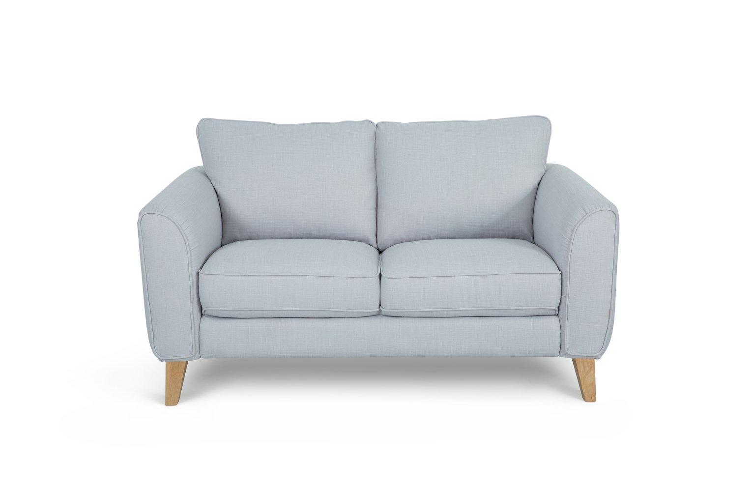 Habitat Cooper 2 Seater Fabric Sofa - Light Grey