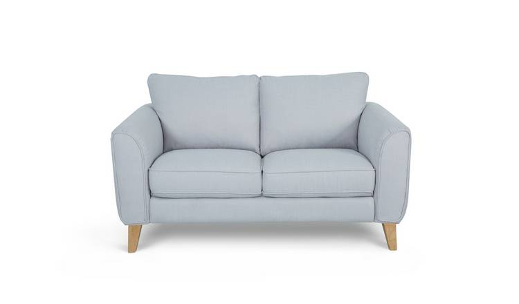 Habitat Cooper 2 Seater Fabric Sofa - Light Grey