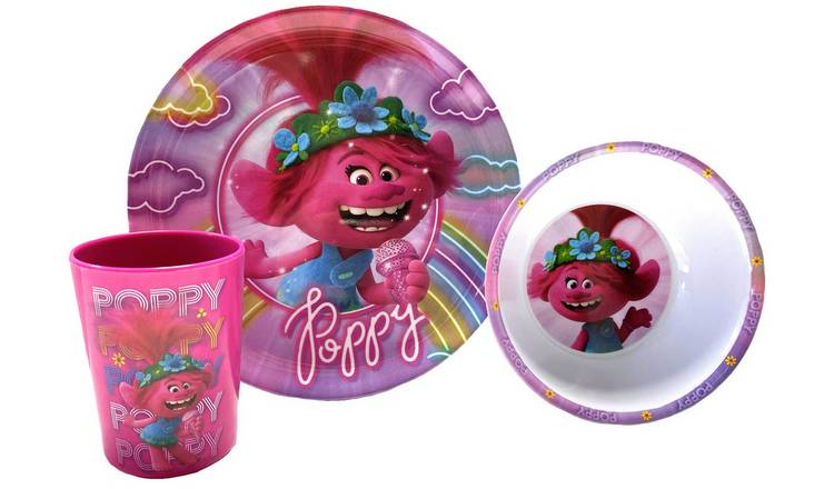Trolls 2 Poppy Breakfast Set